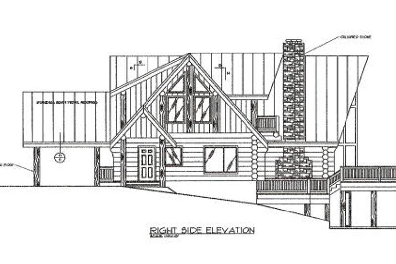 Log Exterior - Other Elevation Plan #117-102 - Houseplans.com