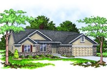Dream House Plan - Traditional Exterior - Front Elevation Plan #70-137