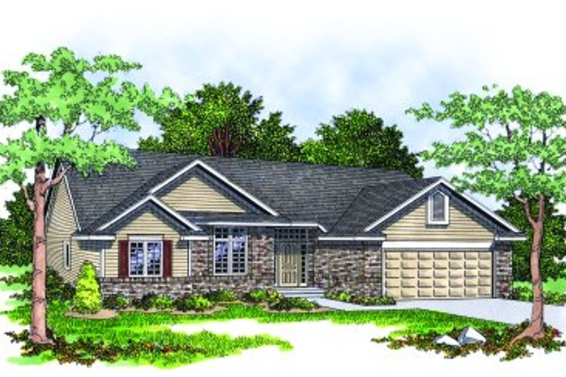 Traditional Exterior - Front Elevation Plan #70-137