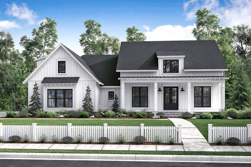 Farmhouse Style House Plan 3 Beds 2 Baths 2077 Sq Ft Plan 430 164