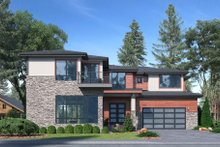 Dream House Plan - Contemporary Exterior - Front Elevation Plan #1066-97