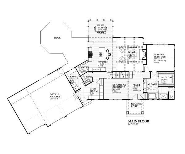 Traditional Floor Plan - Main Floor Plan #901-106