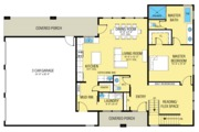 Farmhouse Style House Plan - 3 Beds 2.5 Baths 1917 Sq/Ft Plan #1068-1 Floor Plan - Main Floor Plan