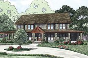Country Style House Plan - 6 Beds 5.5 Baths 4623 Sq/Ft Plan #17-2398 Exterior - Front Elevation