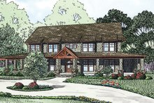 Dream House Plan - Country Exterior - Front Elevation Plan #17-2398