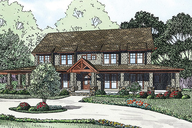 Country Exterior - Front Elevation Plan #17-2398 - Houseplans.com