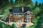 Country Style House Plan - 1 Beds 1 Baths 1050 Sq/Ft Plan #25-4406 Exterior - Other Elevation