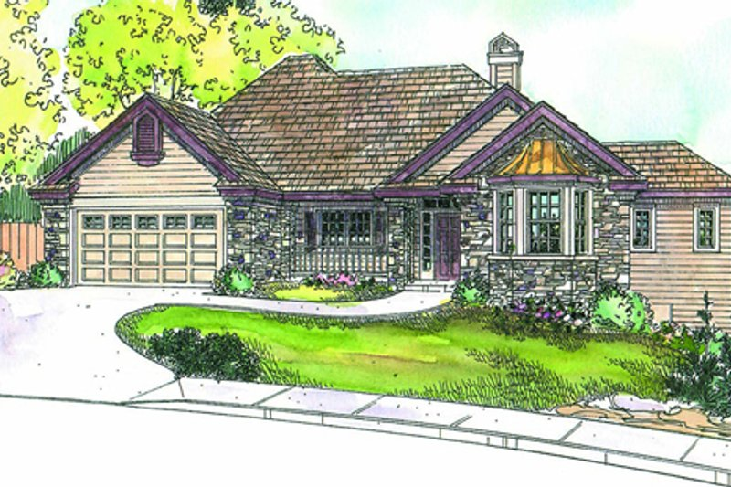 Traditional Exterior - Other Elevation Plan #124-671 - Houseplans.com