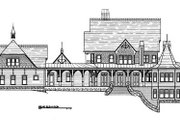 Victorian Style House Plan - 4 Beds 5.5 Baths 6728 Sq/Ft Plan #119-175 Exterior - Rear Elevation