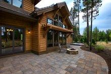 Craftsman style house design, rear elevation photo