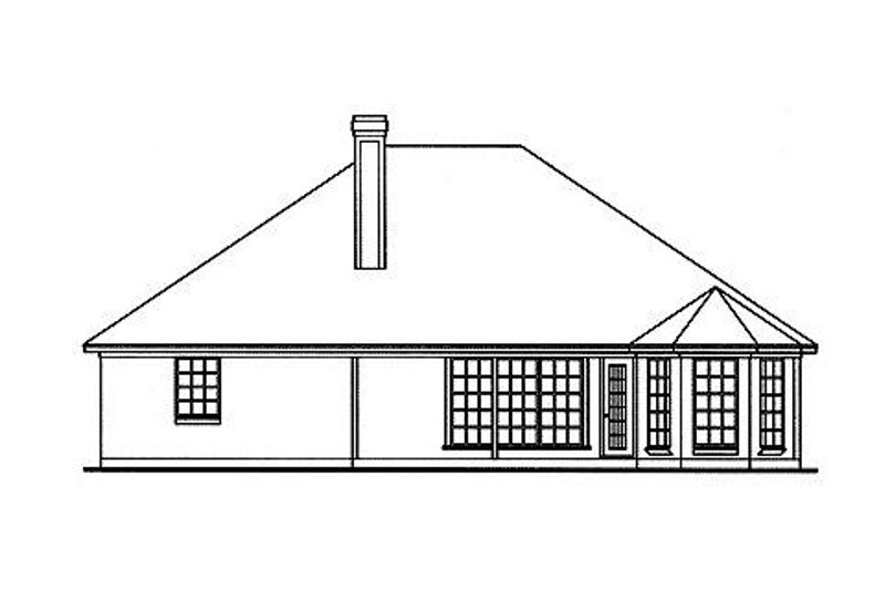 Traditional Exterior - Rear Elevation Plan #42-391 - Houseplans.com