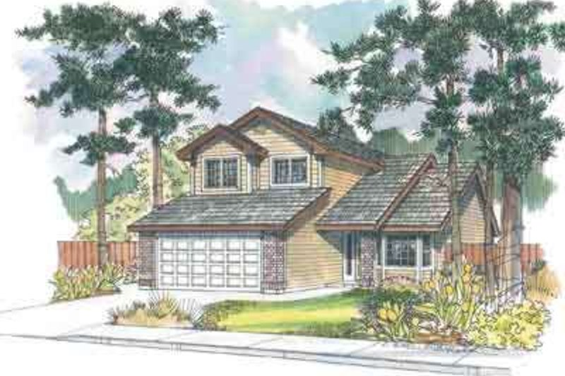 Exterior - Front Elevation Plan #124-471
