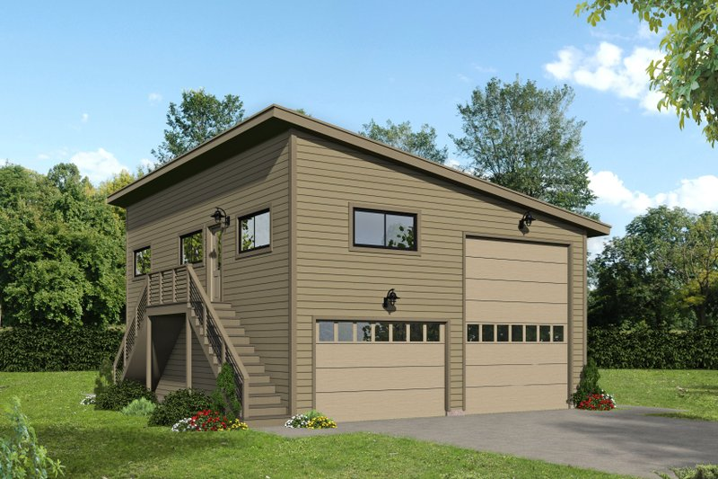 Dream House Plan - Contemporary Exterior - Front Elevation Plan #932-238