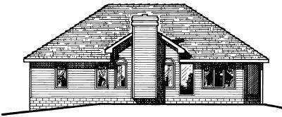 Traditional Exterior - Rear Elevation Plan #20-151 - Houseplans.com