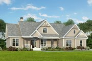 Craftsman Style House Plan - 3 Beds 2 Baths 1544 Sq/Ft Plan #929-307 Exterior - Front Elevation