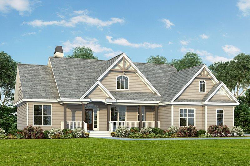 Dream House Plan - Craftsman Exterior - Front Elevation Plan #929-307