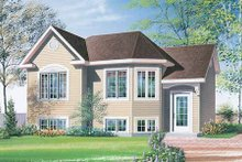 European Exterior - Front Elevation Plan #23-307
