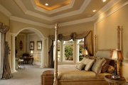 Mediterranean Style House Plan - 5 Beds 5.5 Baths 6780 Sq/Ft Plan #27-216 Interior - Master Bedroom