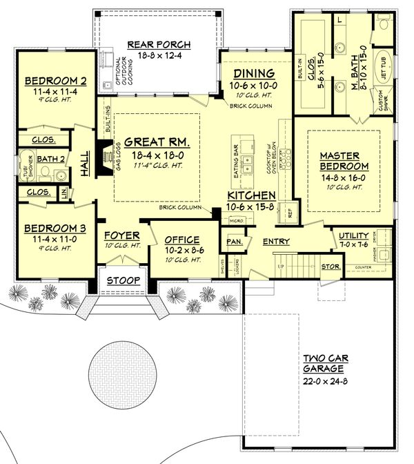 European Floor Plan - Main Floor Plan Plan #430-107