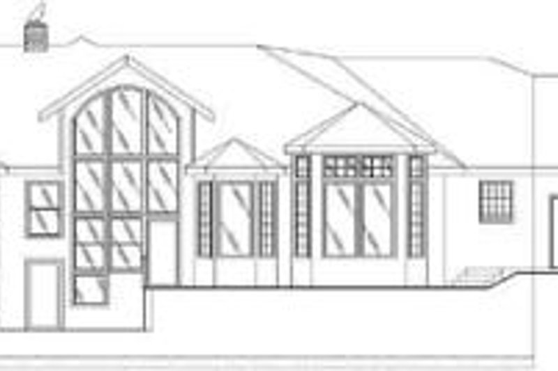 Traditional Exterior - Rear Elevation Plan #117-157 - Houseplans.com