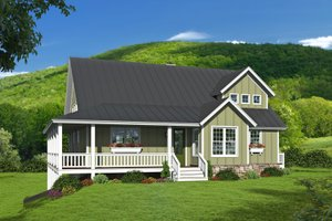 Country Exterior - Front Elevation Plan #932-348