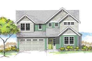 Architectural House Design - Craftsman Exterior - Front Elevation Plan #53-606