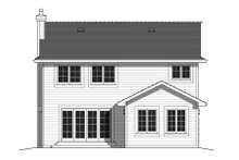 Dream House Plan - Traditional Exterior - Rear Elevation Plan #427-7