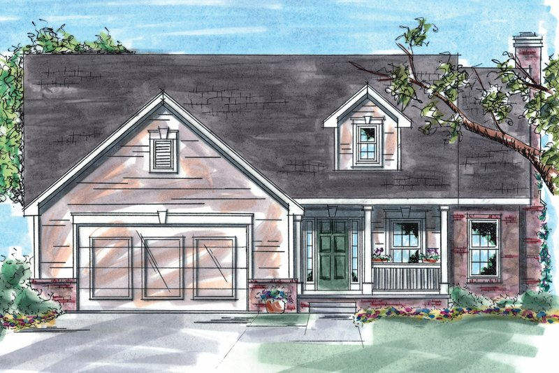 Dream House Plan - Traditional Exterior - Front Elevation Plan #20-1248