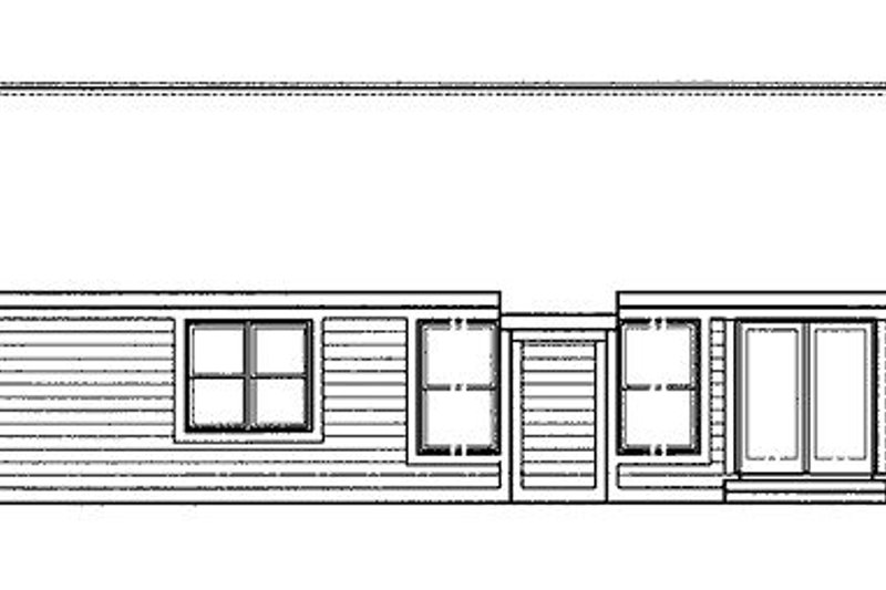 Traditional Exterior - Rear Elevation Plan #320-410 - Houseplans.com