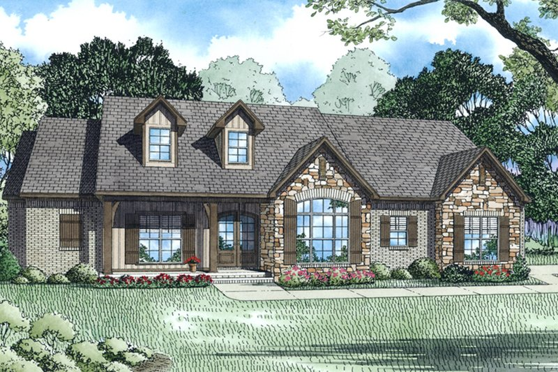 Home Plan - European, Traditional, Front Elevation
