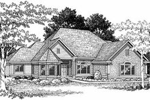 House Design - European Exterior - Front Elevation Plan #70-412