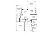 Contemporary Style House Plan - 3 Beds 2.5 Baths 2175 Sq/Ft Plan #48-687 Floor Plan - Main Floor Plan