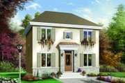 Colonial Style House Plan - 3 Beds 2 Baths 1365 Sq/Ft Plan #23-342 Exterior - Front Elevation