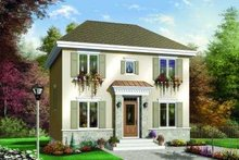 Colonial Exterior - Front Elevation Plan #23-342