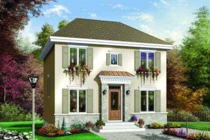 House Plan Design - Colonial Exterior - Front Elevation Plan #23-342