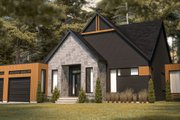 Contemporary Style House Plan - 3 Beds 2 Baths 1704 Sq/Ft Plan #23-2726 Exterior - Front Elevation