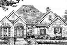 Dream House Plan - European Exterior - Front Elevation Plan #310-551