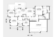 Craftsman Style House Plan - 3 Beds 2.5 Baths 3246 Sq/Ft Plan #48-169 Floor Plan - Main Floor
