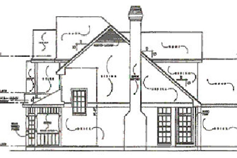 Traditional Exterior - Other Elevation Plan #40-133 - Houseplans.com