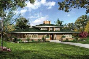 Home Plan - Prairie Exterior - Front Elevation Plan #72-179
