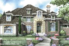 House Plan Design - Mediterranean Exterior - Front Elevation Plan #930-267