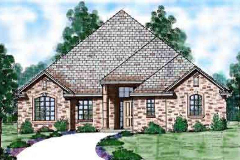 Home Plan - European Exterior - Front Elevation Plan #52-172