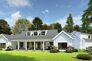 Farmhouse Style House Plan - 3 Beds 3.5 Baths 2050 Sq/Ft Plan #923-170 Exterior - Rear Elevation