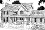 Traditional Style House Plan - 4 Beds 3.5 Baths 3002 Sq/Ft Plan #20-310 Exterior - Front Elevation