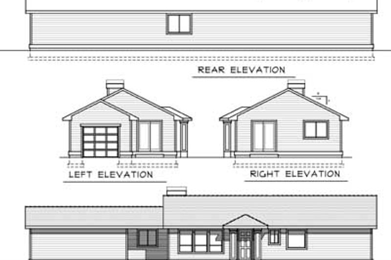Ranch Exterior - Rear Elevation Plan #100-420 - Houseplans.com