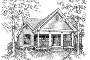 Country Style House Plan - 3 Beds 2.5 Baths 1709 Sq/Ft Plan #314-203 Exterior - Rear Elevation