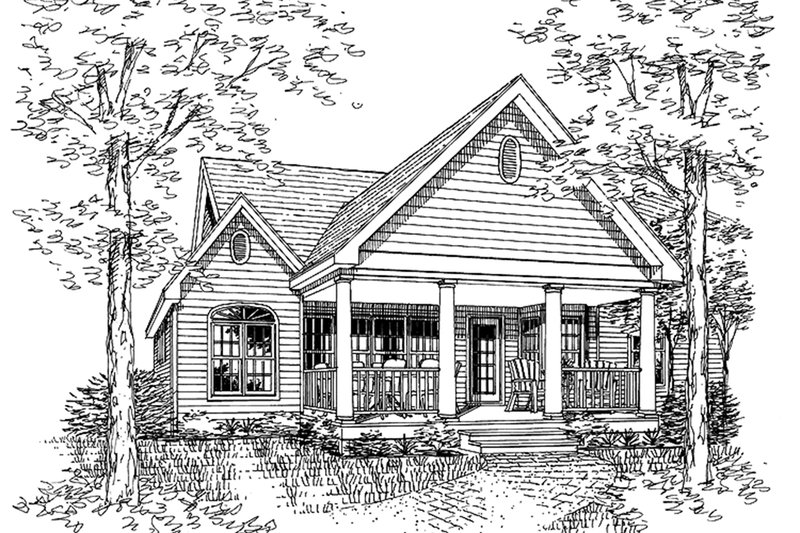 Country Exterior - Rear Elevation Plan #314-203 - Houseplans.com
