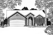 Traditional Style House Plan - 3 Beds 2 Baths 1208 Sq/Ft Plan #58-115 Exterior - Front Elevation