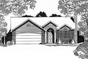 House Plan Design - Traditional Exterior - Front Elevation Plan #58-115