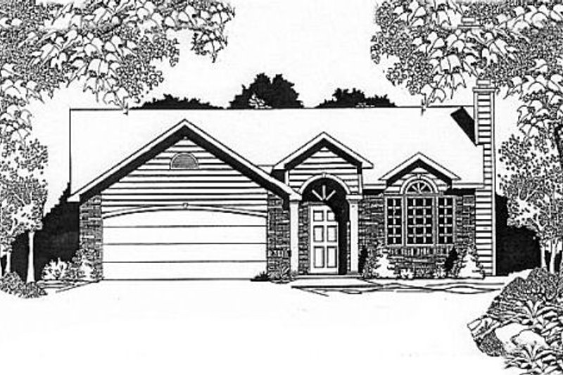 Traditional Exterior - Front Elevation Plan #58-115 - Houseplans.com